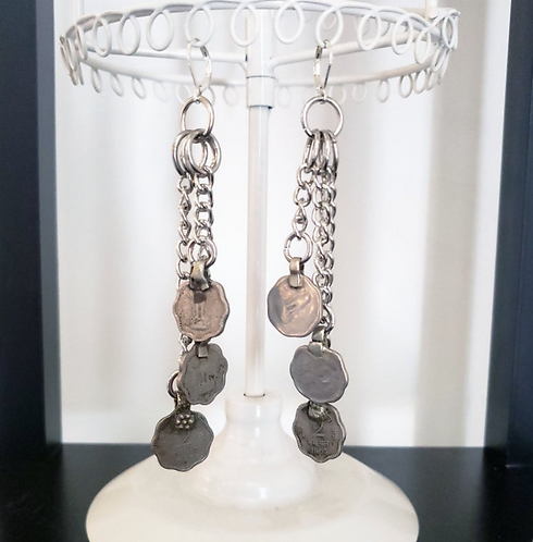 Scalloped Coin Earrings