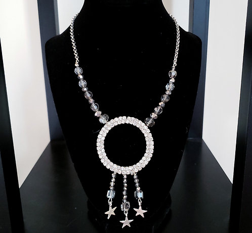 Sparkly Paved Rhinestone Necklace
