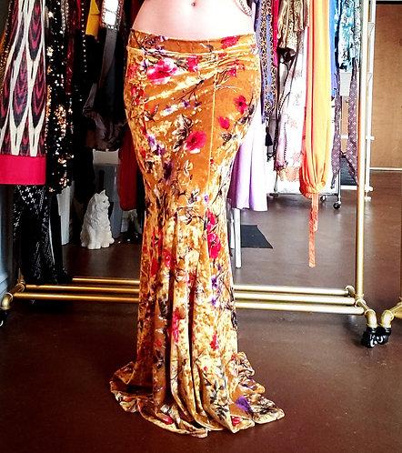 Gold Velvet Mermaid Skirt