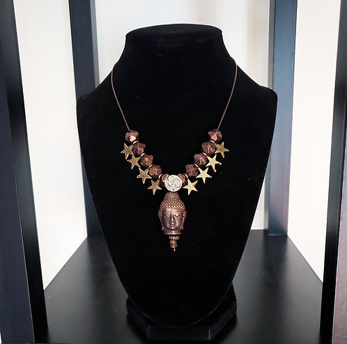 Bronze Buddha Necklace