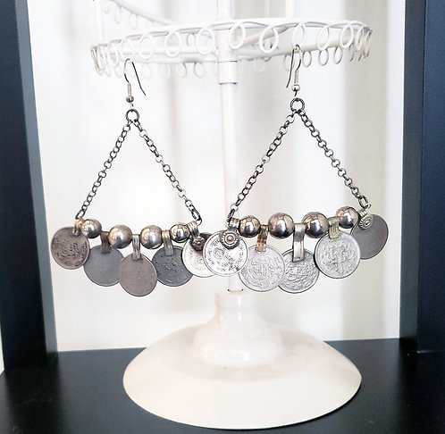 Heavy Coin Earrings