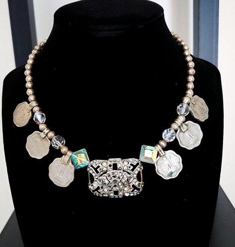 Diamante Coin Necklace Style A