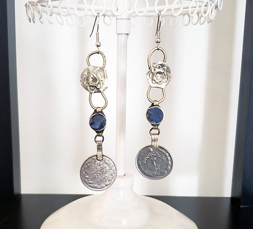 Kuchi Coin Earrings