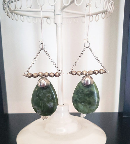 Serpentinite Earrings