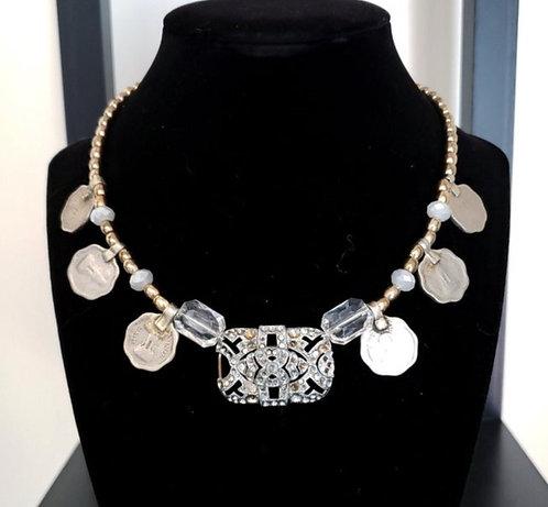 Diamante Coin Necklace Style B