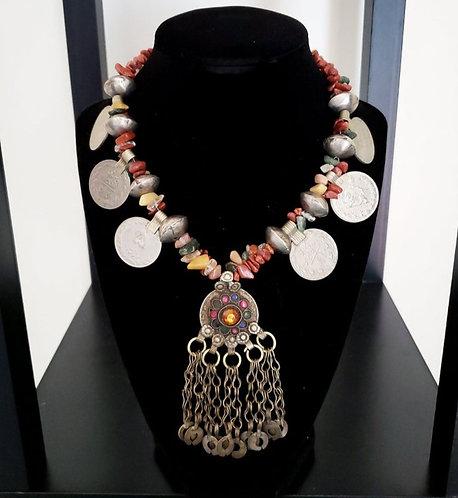 Kuchi Charm & Goldstone Necklace