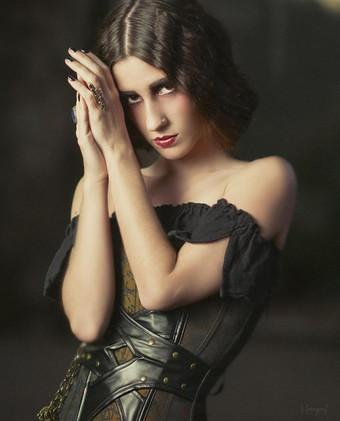 Nouveau cabaret dancer Veronica Lynn photographed by J Gregory Photography. HMUA by Becky Joyce.