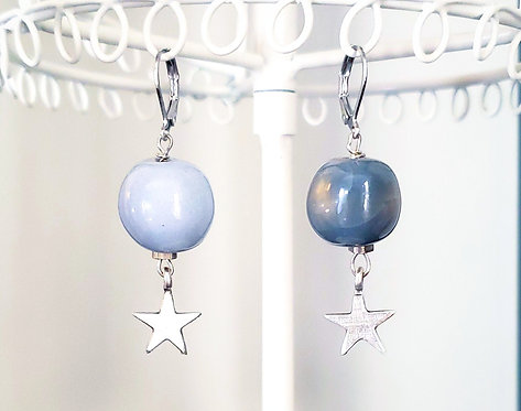 Mismatched Kazuri Bead Earrings
