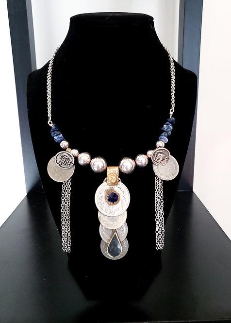 Sodalite Coin Necklace
