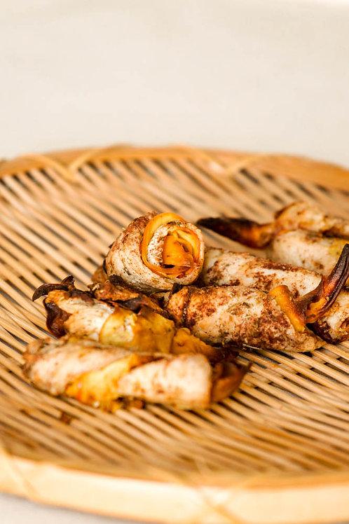 Fresh Chicken Pumpkin Sushi Roll