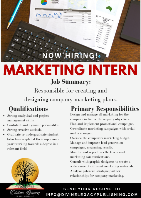 DLP - Marketing Intern Flyer
