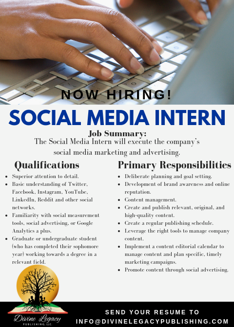 DLP - Social Media Intern Flyer