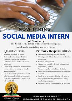 DLP - Social Media Intern Flyer