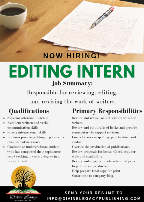 DLP - Editor Intern Flyer