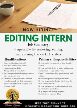 DLP - Editor Intern Flyer