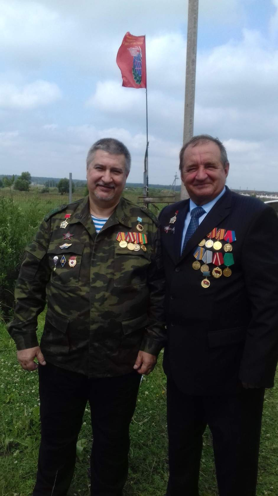 Комбат Комиссаров и Сергей Офицеров