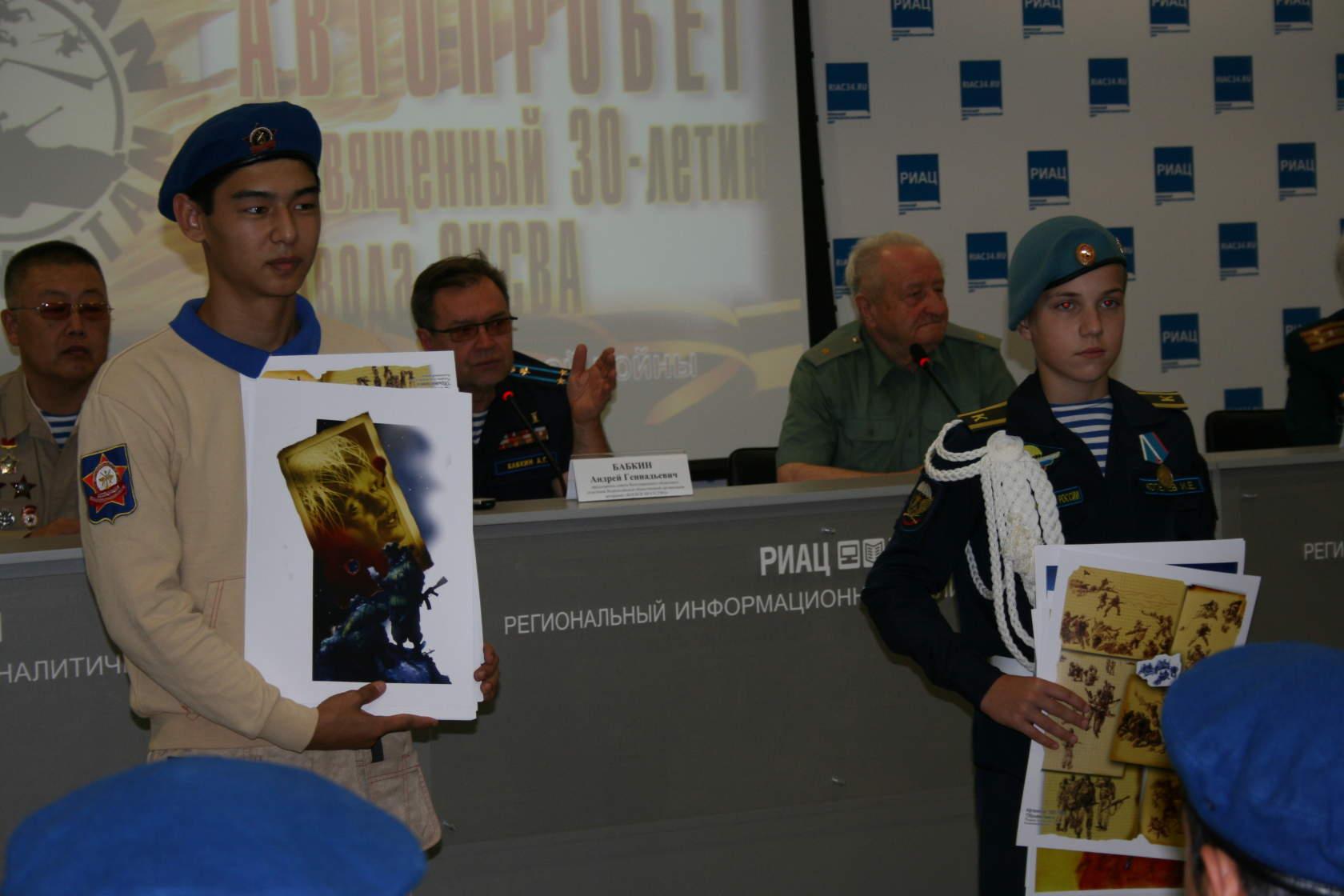 Передачи выставки кадетам Волгограда