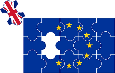 EU flag with UK missing