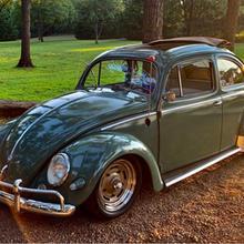 """1957 Oval Window Rag Top Beetle, """"Sweet Pea"""""""