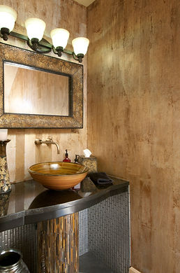 Albrecht Wood Interiiors Powder Bath