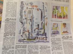 Portrait of the Artist features Sandra Constantine in the Poughkeepsie Journal