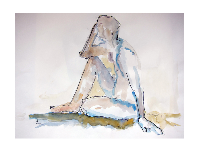 Left Handed Seated Nude