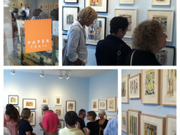 Photos of the opening reception at Paper Trail (Rhinebeck, NY / Aug. 2, 2014)