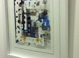 Sandra's Mono print at Creative Mischief Exhibition
