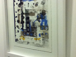 Sandra's Mono print at Creative Mischief Exhibition
