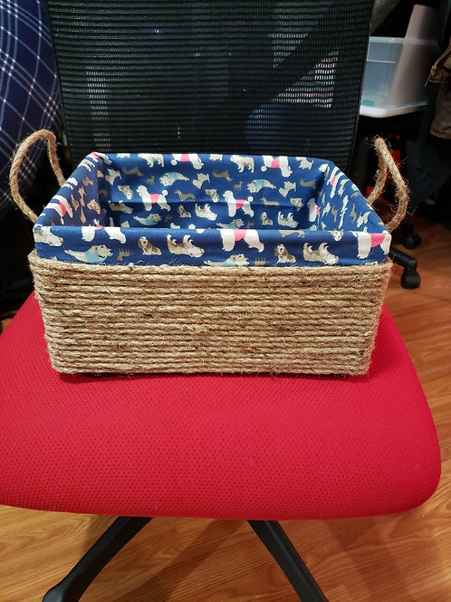Blue dog basket