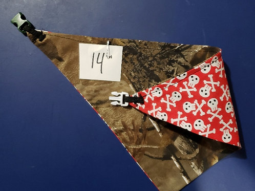 "Animal Bandana 14"" - Reversible"