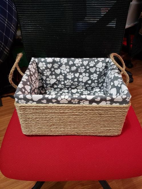 Grey Puppy paws basket