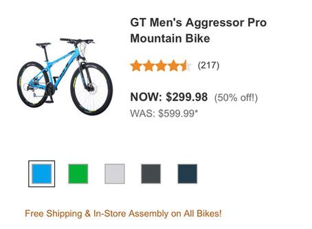 GT Aggressor Pro $299