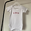 Thumbnail: Personalised Embroidered Multi-Coloured Baby's Name White Bodysuit 100% Cotton