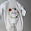 Thumbnail: Personalised Embroidered Flower Frame with Name White Sleepsuit