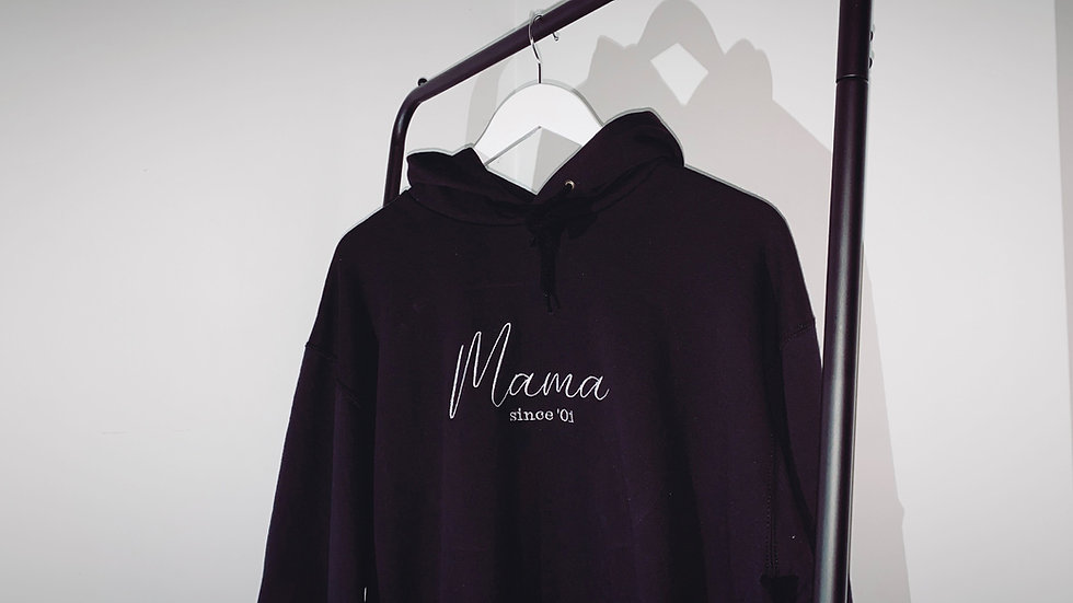 Personalised Embroidered Women's Mama 'Since/Est (Date)' Hoodie
