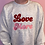 Thumbnail: Embroidered Adults 'Love More' Grey Sweatshirt