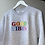 Thumbnail: Embroidered Rainbow 'GOOD VIBES' Adults Grey Sweatshirt
