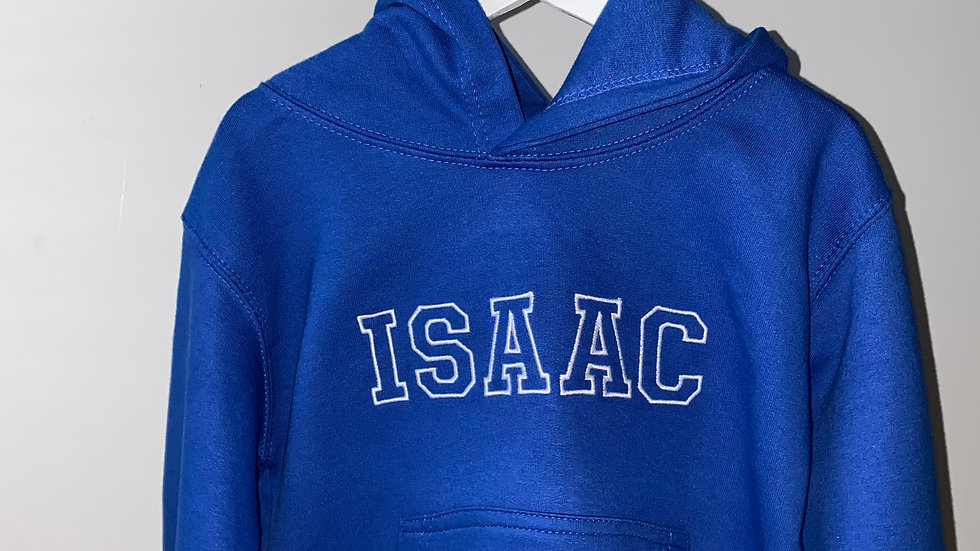 Personalised Embroidered Children's Name Hoodie