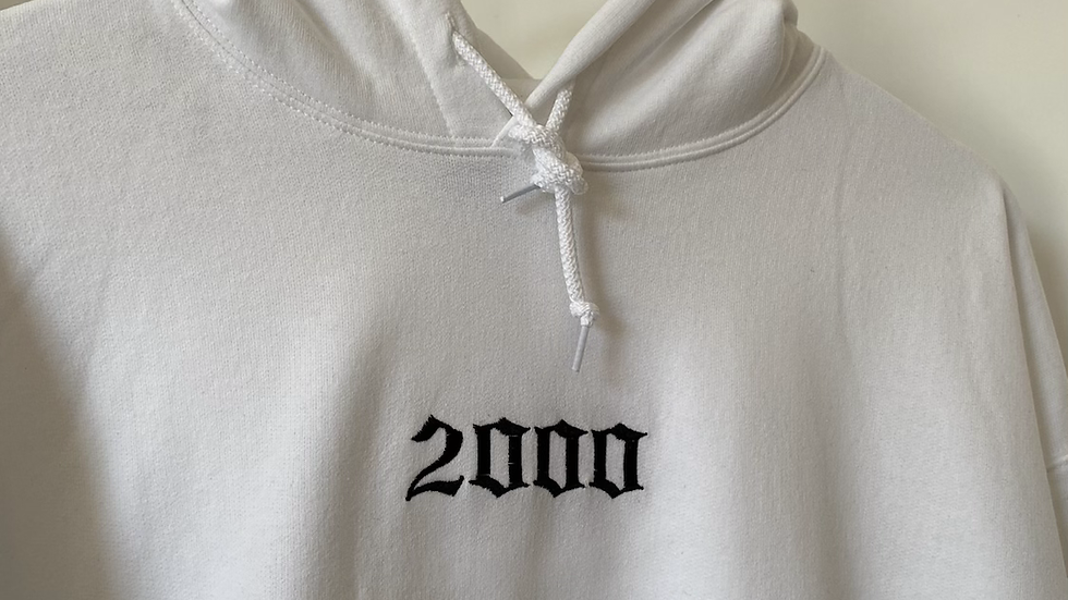 Embroidered 'Birth Year' Hoodie