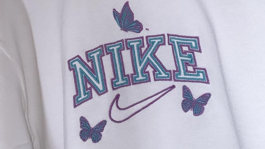 Vintage Sport Style Nike With Butterflies Sweatshirt