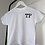 Thumbnail: Personalised Embroidered Initial Monogram White T-Shirt 100% Cotton