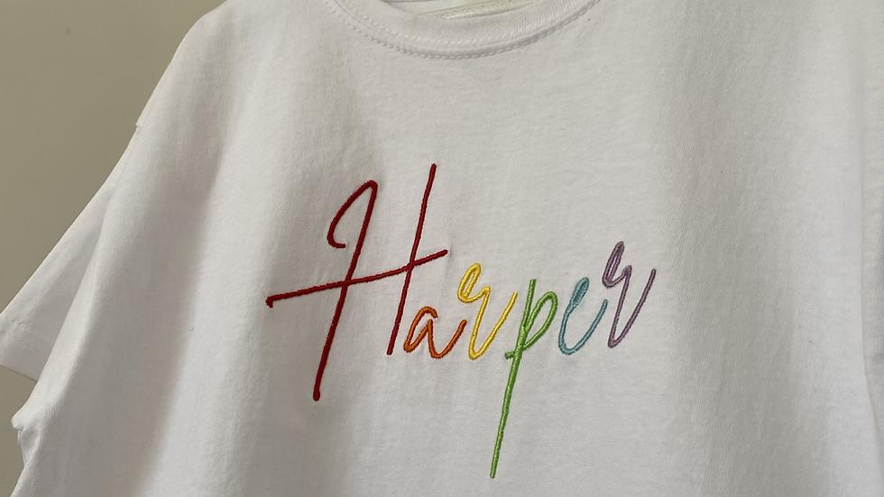 Children's Rainbow Name T-Shirt
