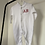 Thumbnail: Personalised Embroidered Initial White Sleepsuit 100% Cotton