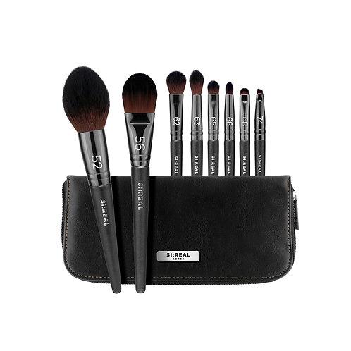 [FLALIA] SI:REAL Makeup Brush Set (A) 8 pieces