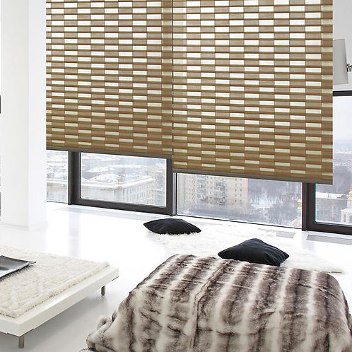 POLYESTER ROLLER BLINDS TRIPLE SHADE 6-COLOR