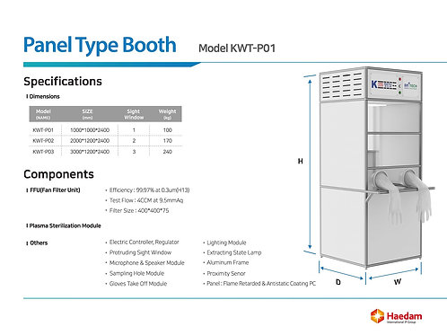 sample collection booth for virus test- Type2