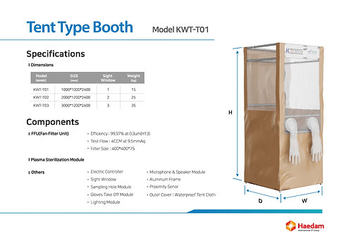 sample collection booth for virus test