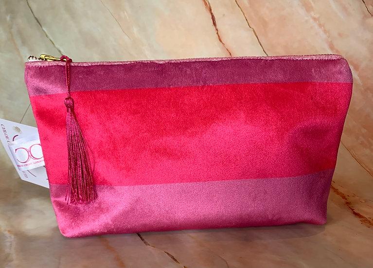 Pink stripe Cosmetic Bag SAMPLE 1 LEFT