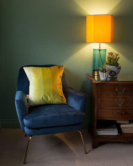 LUSCIOUS LIME VELVET CUSHION